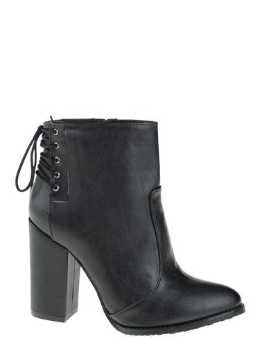 D by Divarese Kalın Topuklu Bot Siyah